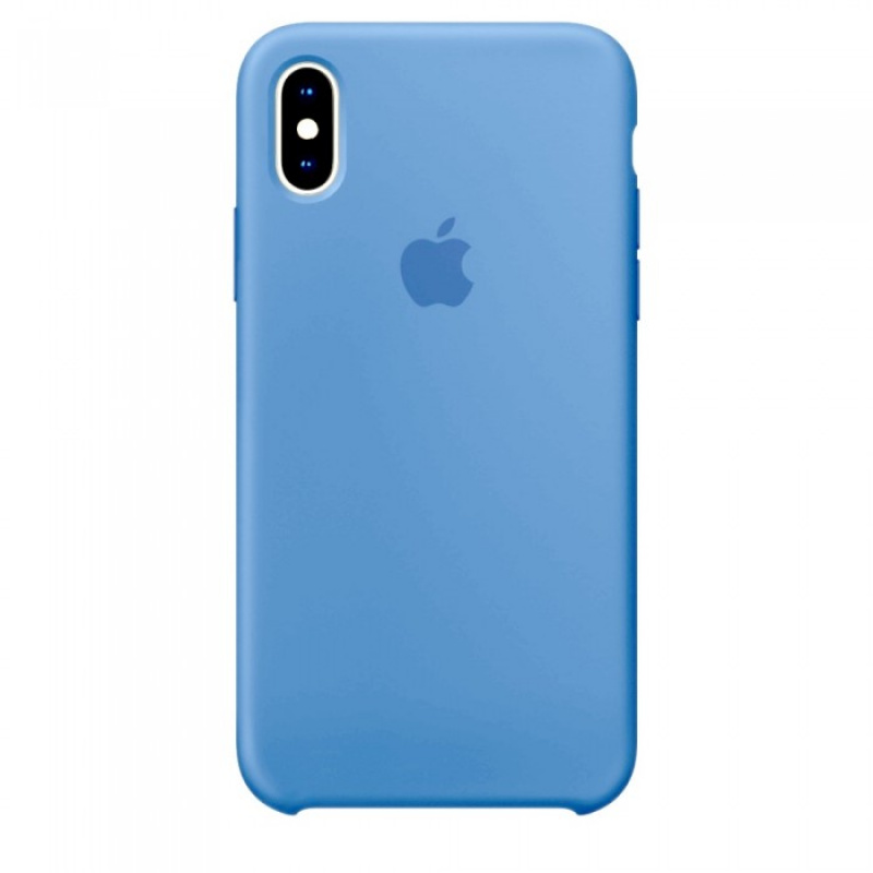Накладка Apple iPhone X Silicon Case (Голубой)