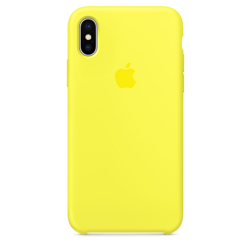 Накладка Apple iPhone X Silicon Case Sale (Желтый)