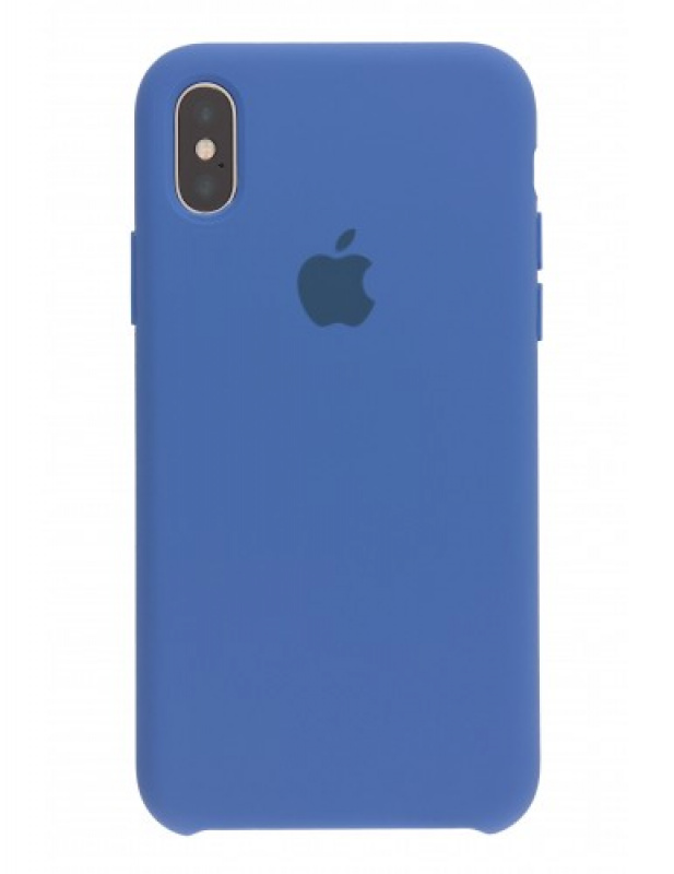 Накладка Apple iPhone X Silicon Case (Синий)